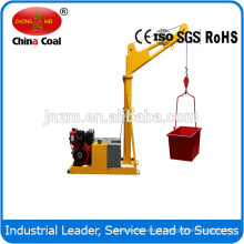 360 degree diesel mini crane 500kg 1000kgs with easy operation
